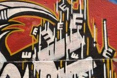 Murales в Ванкувере, Британской Колумбии Канаде Стоковое Изображение