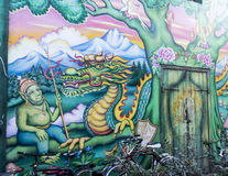 Murales in Christiania copenaghen royalty free stock images