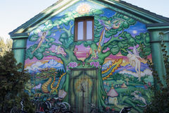 Murales in christiania royalty free stock images