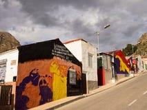 Arte de la calle en Orihuela, Alicante - España Imagen de archivo