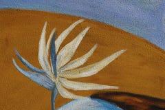 Murales con adornos florales Fotos de archivo libres de regalías