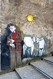 Murales d'Orgosolo - Sardaigne Image stock