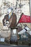 Murales de Orgosolo - Sardinia Fotos de Stock