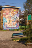 Murales de San Miguel Foto de archivo