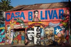 Murales de Santiago Imagen de archivo