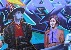Murales del callejón balsámico, San Francisco, California, los E.E.U.U. Fotos de archivo