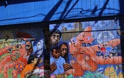 Murales del callejón balsámico, San Francisco, California, los E.E.U.U. Fotografía de archivo libre de regalías
