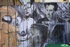 Murales del callejón balsámico, San Francisco, California, los E.E.U.U. Foto de archivo