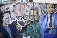 Murales del callejón balsámico, San Francisco, California, los E.E.U.U. Imagenes de archivo