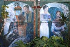 Murales del callejón balsámico, San Francisco, California, los E.E.U.U. Fotografía de archivo