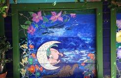 Murales del callejón balsámico, San Francisco, California, los E.E.U.U. Foto de archivo libre de regalías