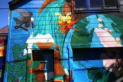 Murales del callejón balsámico, San Francisco, California, los E.E.U.U. Imágenes de archivo libres de regalías