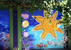 Murales del callejón balsámico, San Francisco, California, los E.E.U.U. Imagen de archivo libre de regalías