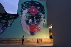 Murales en Christchurch - Nueva Zelanda imagenes de archivo