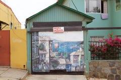 Murales en Valparaiso, Chile Imagen de archivo