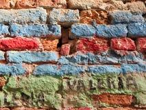 Murales färgglade venice Arkivbild
