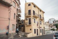Murales i ścienny obraz jesteśmy popularni w Oliena, Nuoro, Sardinia, Włochy fotografia royalty free