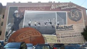 Murales i Budapest Arkivbilder