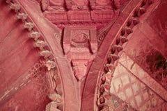 Murales interiores del fuerte rojo fotos de archivo libres de regalías