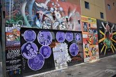 Murales muy creativos muy hermosos del callejón de Clarion, 2 imagenes de archivo