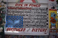 Murales muy creativos muy hermosos del callejón de Clarion, 3 foto de archivo libre de regalías