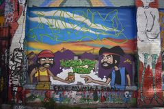 Murales muy creativos muy hermosos del callejón de Clarion, 8 imagenes de archivo