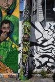 Murales muy creativos muy hermosos del callejón de Clarion, 18 fotos de archivo