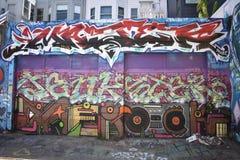 Murales muy creativos muy hermosos del callejón de Clarion, 19 foto de archivo