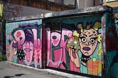 Murales muy creativos muy hermosos del callejón de Clarion, 40 fotografía de archivo libre de regalías