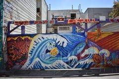 Murales muy creativos muy hermosos del callejón de Clarion, 43 fotos de archivo libres de regalías