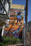 Murales muy creativos muy hermosos del callejón de Clarion, 48 fotos de archivo libres de regalías
