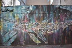 Murales muy creativos muy hermosos del callejón de Clarion, 53 imagen de archivo