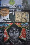 Murales muy creativos muy hermosos del callejón de Clarion, 56 imagen de archivo
