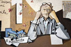 murales orgosolo Σαρδηνία Στοκ φωτογραφία με δικαίωμα ελεύθερης χρήσης