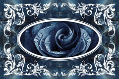 murales papel pintado, moldeado del techo 3d del estuco en el fondo de mármol stock de ilustración