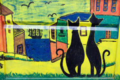 Murales in Valparaiso, Chile Lizenzfreie Stockfotos