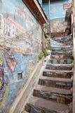Murales in Valparaiso, Chile Stockfoto