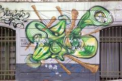 Murales in Valparaiso, Chile Stockbilder