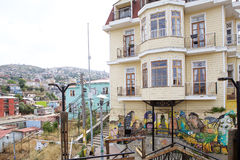 Murales in Valparaiso, Chile Stockfotos