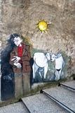 muralesorgosolo sardinia Fotografering för Bildbyråer