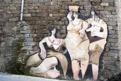muralesorgosolo sardinia Arkivfoton