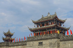 Muralha antigo chinês Imagens de Stock