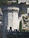 Muralhas medievais em Avignon, França Fotografia de Stock