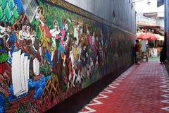 Murali del batik sulla parete fotografia stock libera da diritti