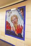 Murali di Hitchcock a Londra Fotografie Stock