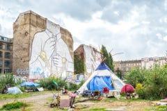 Murali in Kreuzberg, Berlino fotografie stock