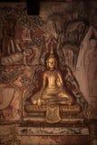 The MuralPlaster carvingsBuddha stock photo