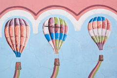 Murals air ballons Royalty Free Stock Photo