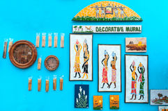 Murals , Art work , Indian handicrafts fair at Kolkata Royalty Free Stock Photo