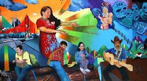 Murals of Balmy Alley, San Francisco, California, USA Royalty Free Stock Image